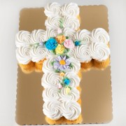 24ct Communion Cross Cupcake Cake